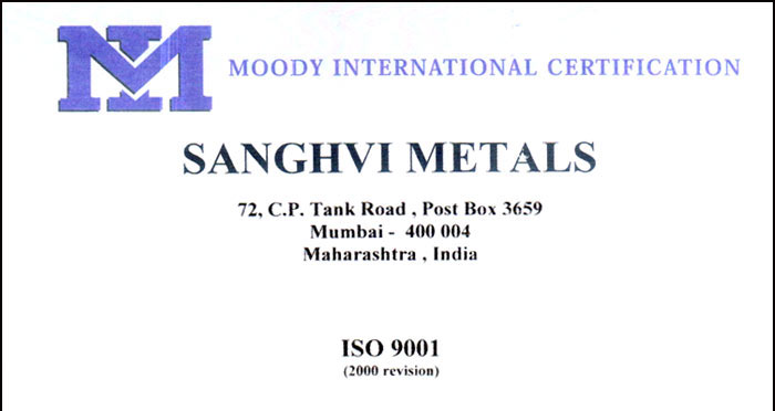 WELCOME TO THE SITE OF SANGHVI METALS Mumbai, Alloy Steel Forged ...